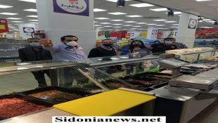 بالصور : جولة لمدير عام وزارة الاقتصاد ابو حيدر على عدد من السوبر ماركت والمستودعات الغذائية والملاحم في صيدا وجوارها