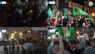 فلسطين - غزة - تنتصر:  فجر الجمعة 21-5-2021  دخول وقف إطلاق النار في فلسطين المحتلة حيز التنفيز  ومسيرات فرح بالنصر