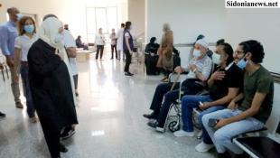 بالصور: الحريري تفقدت ماراتون فايزر في المستشفى صيدا الحكومي والمستشفى التركي: السباق مع الفيروس مستمر