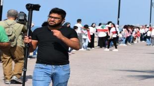 الاعتداء على مصور ال MTV  علي حنقير وعدد من الاعلاميين في صيدا
