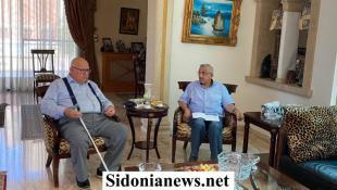 ليلا: لقاء جمع النائب أسامة سعد ورئيس البلدية م. محمد  السعودي والبحث تناول وضع خطة عمل للتخفيف