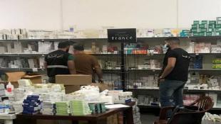 محضر ضبط بصيدلية تخزن أدوية مدعومة في صيدا