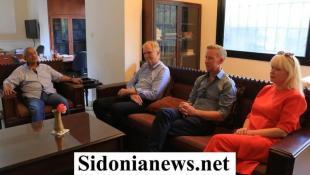 النائب اسامة سعد يستقبل وفدا من منظمة نورفاك النروجية بحضور مدير مؤسسة معروف سعد