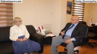 السعودي إستقبل سفيرة السويد آن ديسمور  في القصر البلدي بصيدا